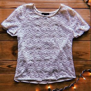 Forever 21 lace fashion top